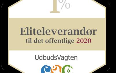 VISION MANAGEMENT A/S er blevet kåret som eliteleverandør 2020!